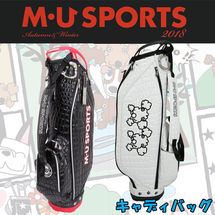 日本正規品 MU SPORTS MUスポーツ 703W3102 レディース ゴルフバック 8.5型 キャディバッグ 【M・U SPORTS】【MUスポーツ】【エムユー】