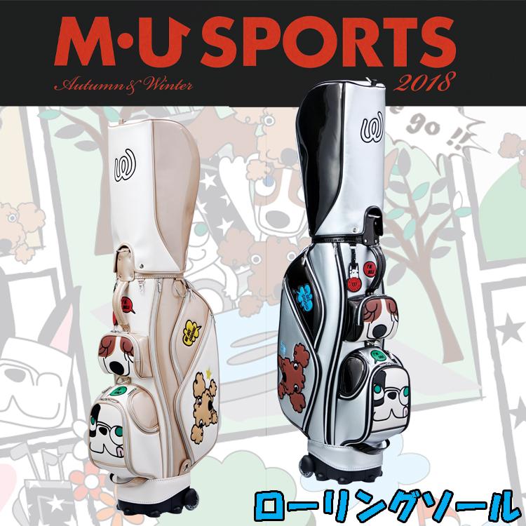 日本正規品 MU SPORTS MUスポーツ 703W6102 レディース ゴルフバック 8.5型 キャディバッグ ローリングソール【M・U SPORTS】【MUスポーツ】【エムユー】
