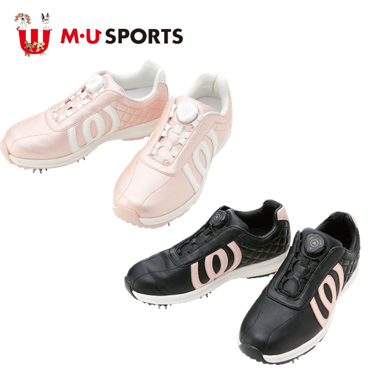MU SPORTS MUスポーツ 703W6600 レディース シューズ ゴルフスパイク ダイヤル調整 ダイヤル式 【スパイク】【レディース】