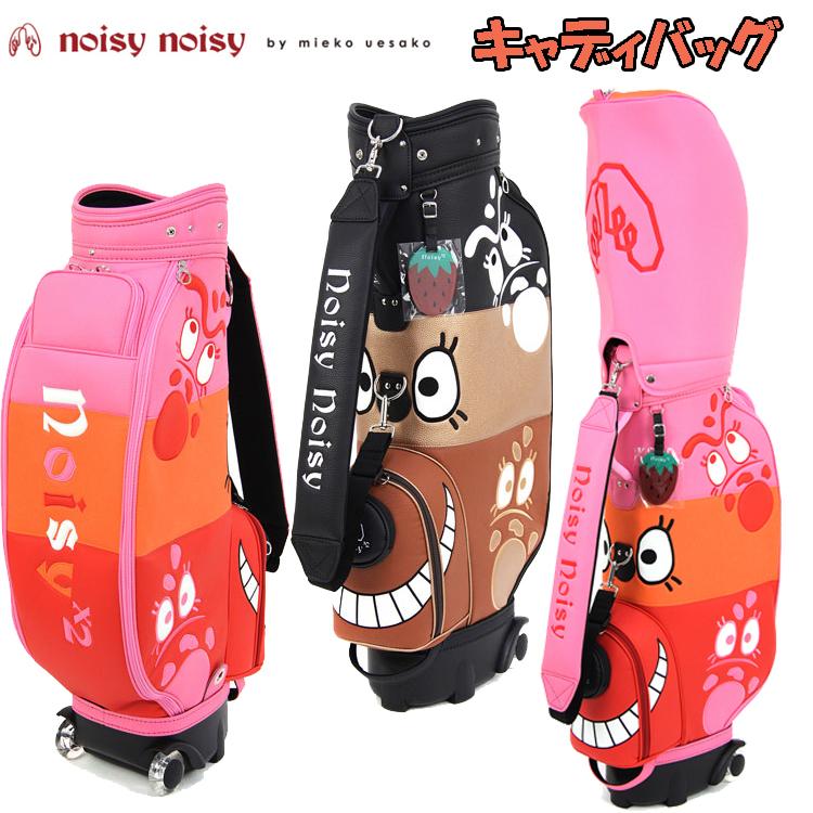 日本正規品 ノイジーノイジー ミエコ ウエサコ noisy noisy by mieko uesako NOISY 90064 レディース ゴルフ キャディバッグ【ノイジーフェイスデザイン】