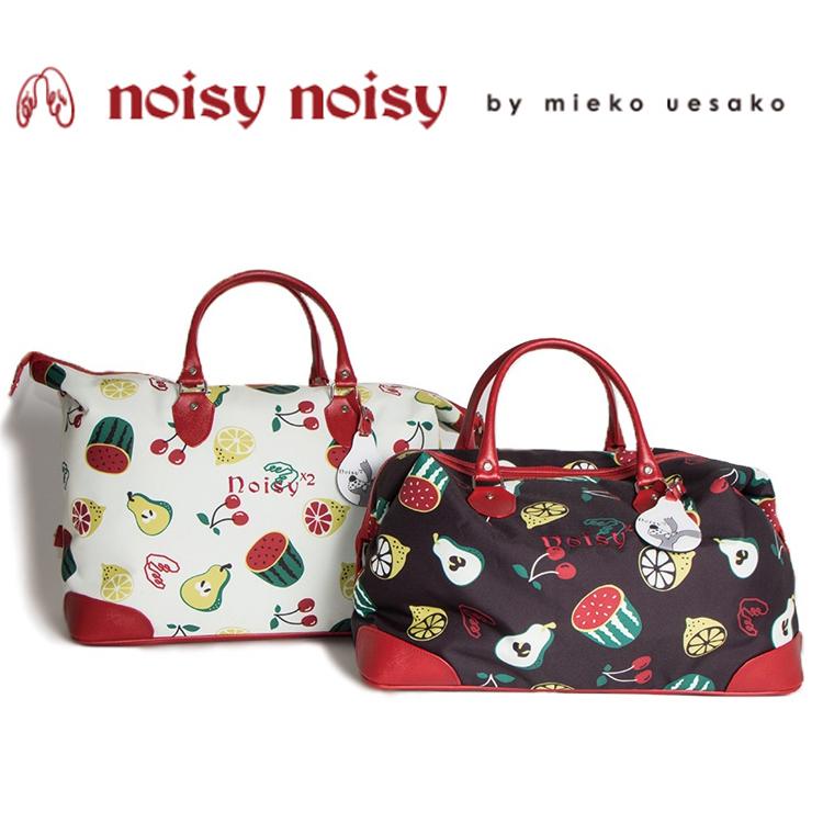 日本正規品 ノイジーノイジー ミエコ ウエサコ noisy noisy by mieko uesako NOISY 9933 レディース ゴルフ ボストンバッグ【オリジナルフルーツ柄】【フルーツ】