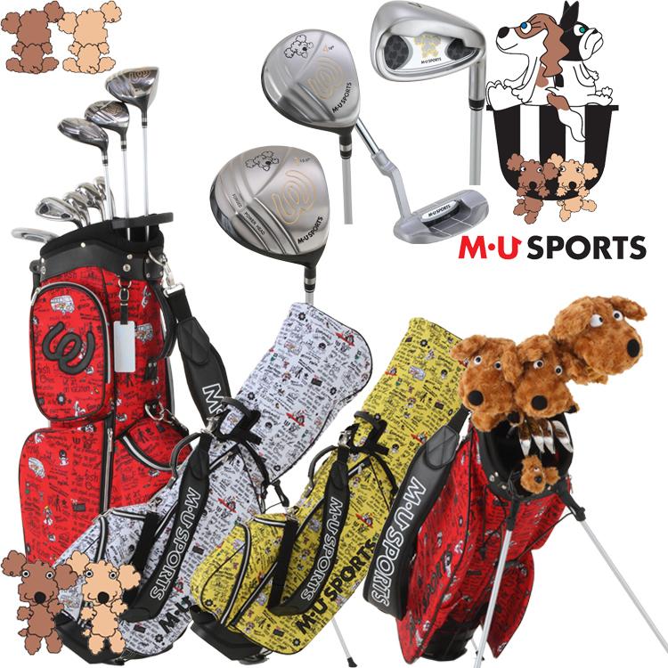 MU SPORTS MUスポーツ 703V4900 レディース ゴルフ ハーフセット クラブ8本組 スタンドキャディバック付き 【ヘッドカバー4点付】