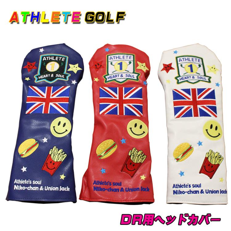 刺繍がかわいいお洒落なシリーズ ATHLETE GOLF ヘッドカバー ドライバー用 クラシック 税込 460cc対応 アスリートゴルフ キャットハンドタイプ ショップ