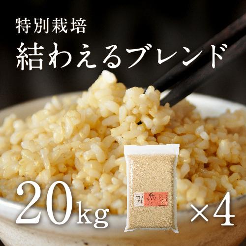 【30年産】【新米】茨城県産 特別栽培玄米3種「 結わえるブレンド」(20kg)