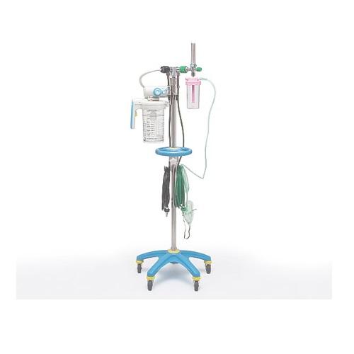 【送料無料】 酸素吸入・吸引スタンド P型 ピン方式 川重型 OVH-1000 新鋭工業