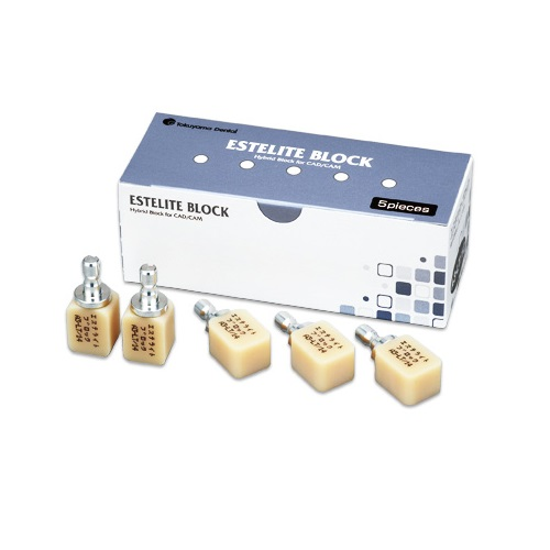 【送料無料】 医療機器 エステライトブロック A3.5-LT 12(10×12×15mm) 5個入 トクヤマデンタル