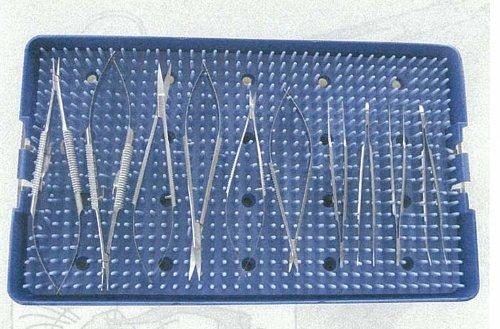 【送料無料】 マイクロ持針器、マイクロ剪刀、マイクロ・アドソンの10種類セット 滅菌トレー有 MPST 林刃物