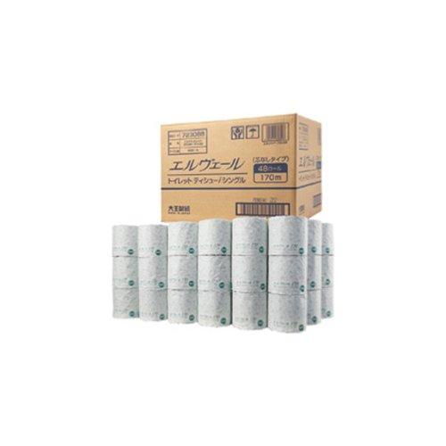【送料無料】 ティッシュ まとめ買い3ケースセット エルヴェール 業務用 トイレットティシュー シングル 芯なし 170m 1ケース(48ロール入)