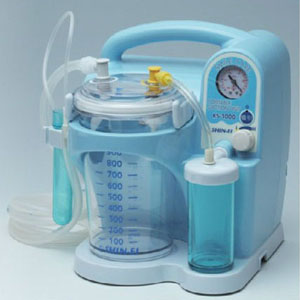 【送料無料】 医療機器 吸引器 スマイルケア W223×D226×H272mm KS-1000 新鋭工業