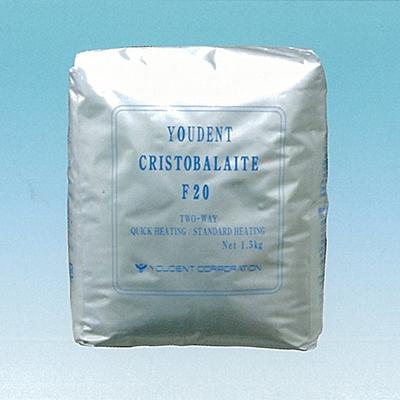 【送料無料】 歯科鋳造用石こう系埋没材 ユーデントクリストバライト クイックタイプ F20 防湿袋入 20kg ユーデント