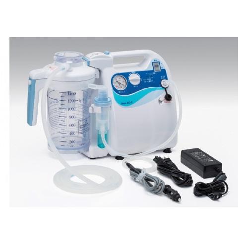 【送料無料】 医療機器 吸引吸入両用器 セパDC-II W400×D150×H270mm NSD2-1400 新鋭工業