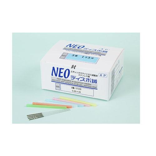 NEOディスポ鍼の鍼体は国産材料です 《週末限定タイムセール》 NEOディスポ鍼4本パック 3番×1寸6分 海外並行輸入正規品 0.20×48mm 4P 山正 240本入