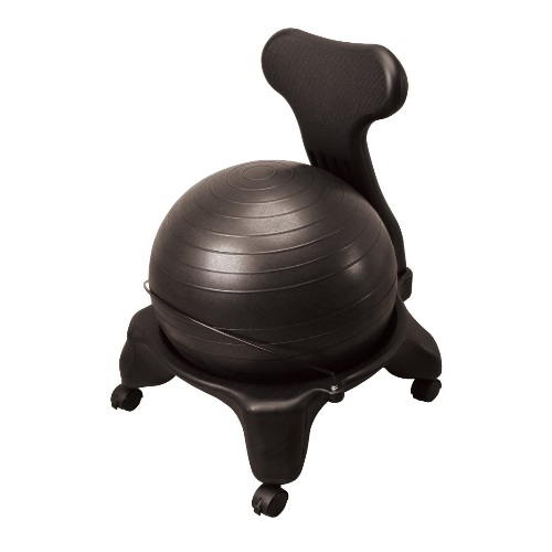 外装重量/6.3kg、重量/5.3kg バランスボールチェア 【送料無料】 泰運動具工業 ブラック DB120C 椅子付バランスボール 66×56×22.5cm