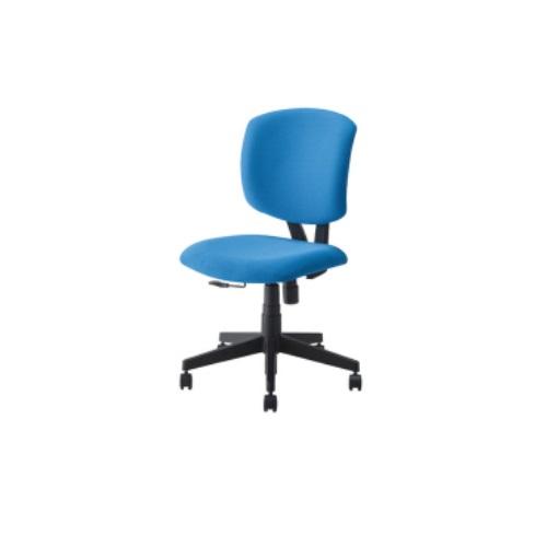 【送料無料】 カラフルオフィスチェア ブルー W610×D550×H880~990mm RZC-282BL ナカバヤシ