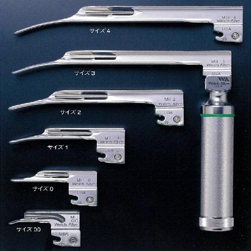【送料無料】 ファイバーオプティック喉頭鏡 ミラー型ブレード A105mm B80mm 43g 80068061 アイ・エム・アイ ウェルチアリン