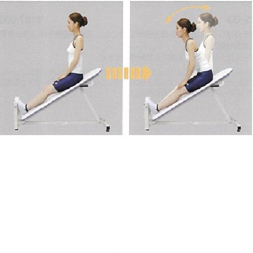 【送料無料】 高齢者筋力向上トレーニング補助用具 ストレッチングベンチ W570×D1200×H710mm 19kg
