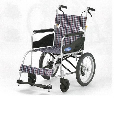 【送料無料】 車椅子 アルミ介助型 幅60×奥行97×高さ90cm 11.9kg