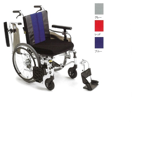 【送料無料】 モジュール車椅子 グレー 幅58・60・62×奥行96.5×高さ88~93cm 16.9kg