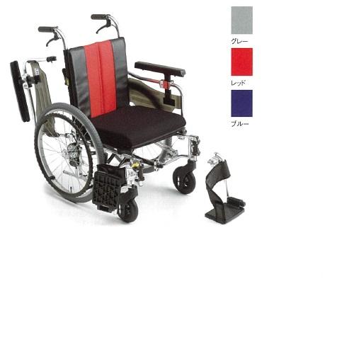 【送料無料】 モジュール車椅子 レッド 幅58・60・62×奥行96×高さ85.5~95.5cm 16.9kg