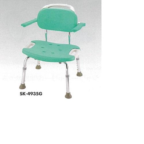 【送料無料】 やわらかシャワーチェア 肘掛付 ピンク W52×D54×H70~80cm 5.6kg