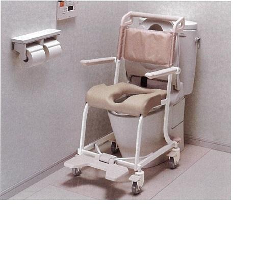 【送料無料】 水まわり用車椅子(キャスタータイプ) W52.5×D77.3×H95cm 7kg