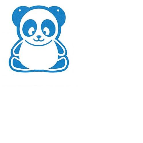 【送料無料】 メッセージプレートS(両面表示タイプ) ぱんだ ブルー H312×W270mm 1個