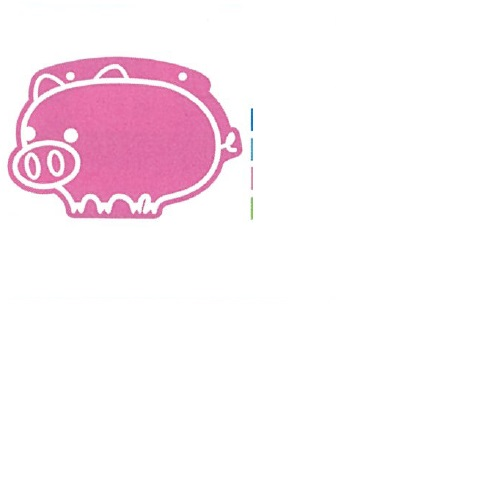 【送料無料】 メッセージプレートS(両面表示タイプ) ぶた ライトブルー H300×W205mm 1個