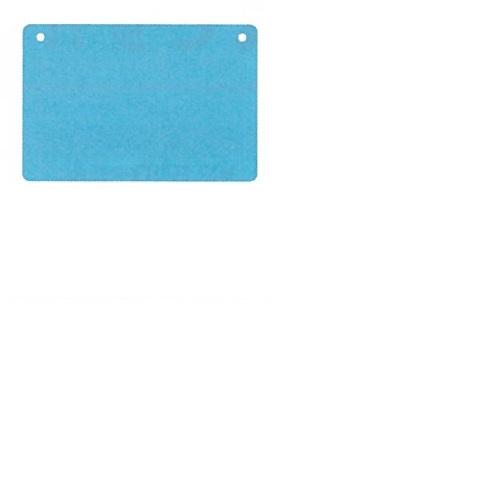 【送料無料】 メッセージプレートS(両面表示タイプ) しかく ブルー H200×W300mm 1個