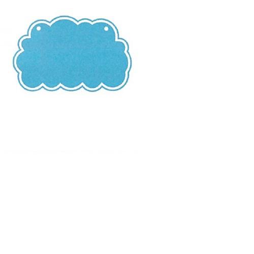 【送料無料】 メッセージプレートS(両面表示タイプ) くも ライトブルー H300×W300mm 1個