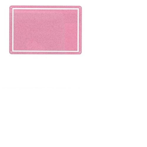 【送料無料】 メッセージプレートL(片面表示タイプ) しかく ピンク H445×W295mm 1個