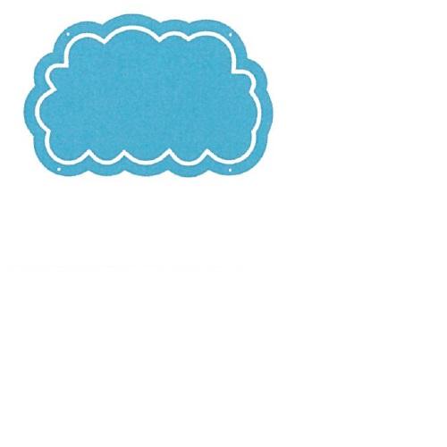 【送料無料】 メッセージプレートL(片面表示タイプ) くも ブルー H445×W290mm 1個