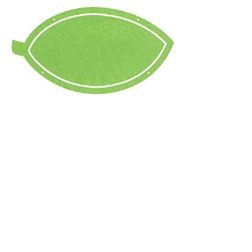 【送料無料】 メッセージプレートL(片面表示タイプ) はっぱ グリーン H445×W236mm 1個
