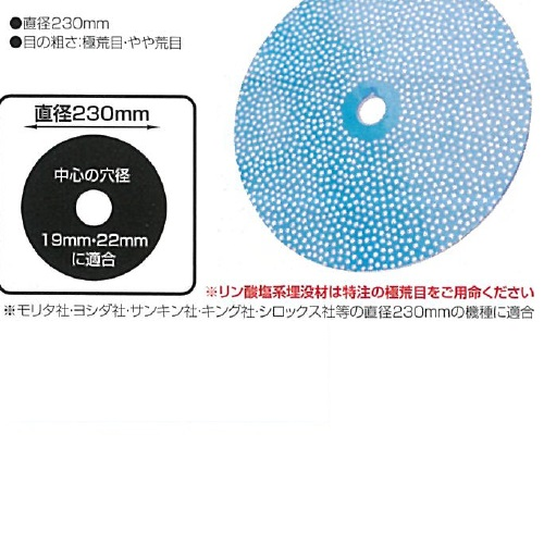 【送料無料】 ニューブリリアントカッター 極荒目 直径230mm 1枚