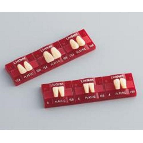 DENTOGENICな感覚を表現する人工歯 リブデント OUTLET SALE プラスチック 日本産 上顎 方尖形TS5 GC 6揃=1個 114