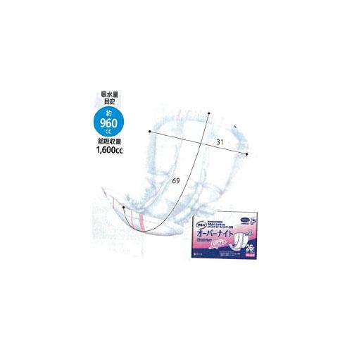 4袋 P.Uサルバ オーバーナイト スーパー 26枚 白十字(株)