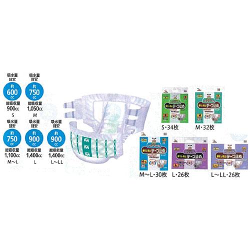 【送料無料】 4袋 マーヤ スーパーパンツール 横モレ防止テープ止め(男女共用) 34枚 東陽特紙(株)