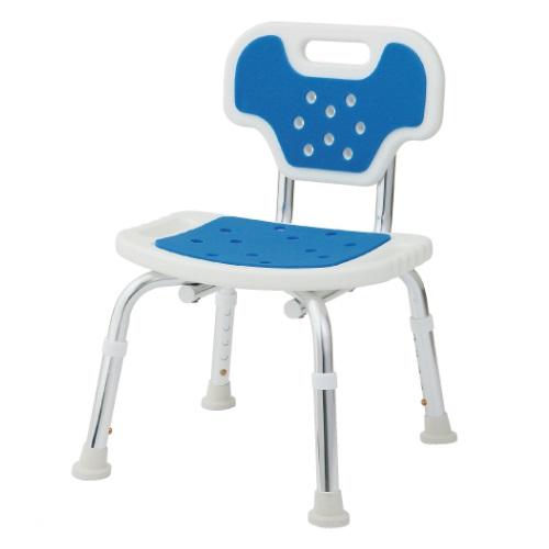 【送料無料】 シャワーチェア 背付き ブルー 1台 BC-01XH-BL 美和商事