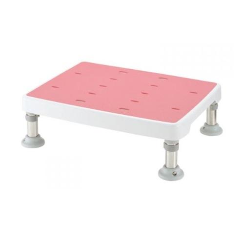 【送料無料】 浴そう台高さ調節付 すべり止め L型 ピンク 高さ/12.5~14cm 1台 18911 リッチェル