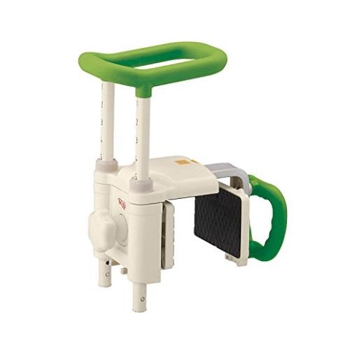 【送料無料】 安寿 高さ調節付浴槽手すり UST-200N グリーン 1台 536-619 アロン化成