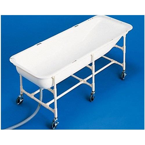 【送料無料】 介護浴槽 湯った~りII さくら ベッド用キャスター付 1セット TNN-AH トマト