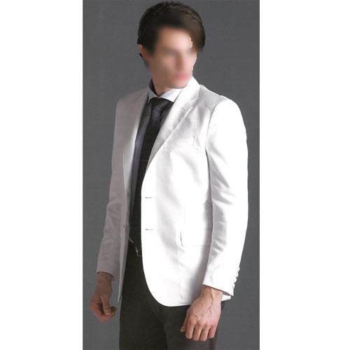 【送料無料】 男子テーラードジャケット ホワイト FD-4080 ナガイレーベン