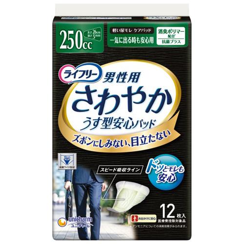 【送料無料】 Tさわやかパッド男性用一気に出る時も安心 16枚×12 ユニ・チャーム