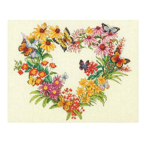 輸入刺しゅうキット 『Dimensions Wildflower Wreath』