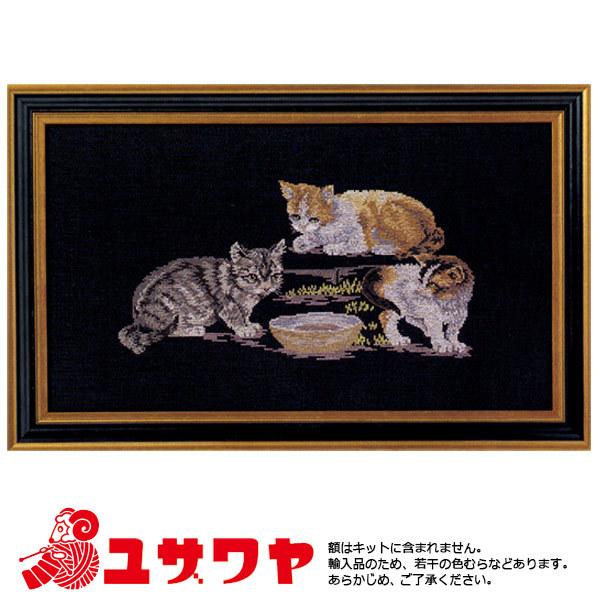 OOE 輸入刺繍キット ネコ 2041[刺しゅう ししゅう 輸入キット クロスステッチ オーレンシュレーガー ハンド