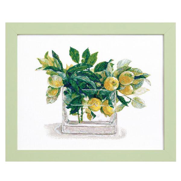 ルシアン 刺しゅうキット Fujico Collection レモン 674 [刺繍キット/ししゅうキット/クロスステッチ/花/COS
