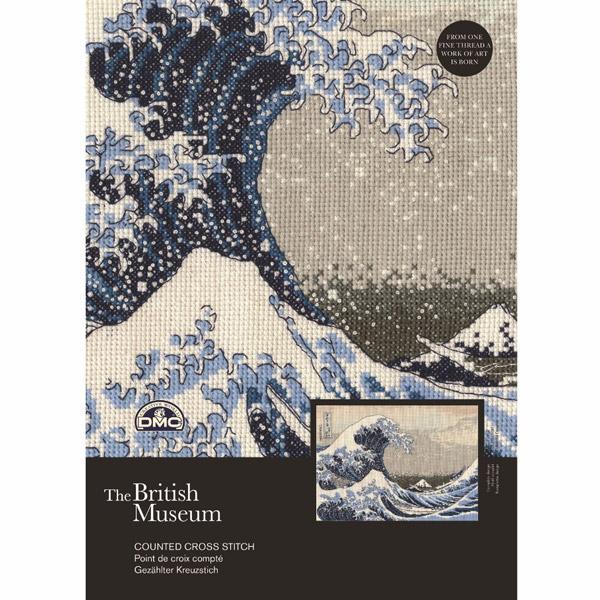 輸入刺しゅうキット 『Katsushika Hokusai - The Great Wave(葛飾北斎 「神奈川沖浪裏」)』 DMC BL1145/73