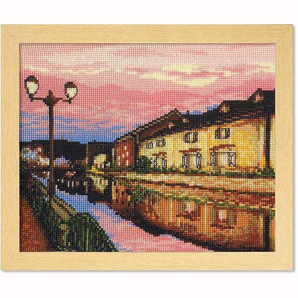 クロスステッチ刺繍キット オリムパス 日本の名所 夕暮れの小樽運河/7387 [刺しゅうキット/ししゅう/クロス
