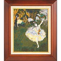 刺繍キット オリムパス アートギャラリー 876/「舞台の踊り子」ドガ作 [刺しゅうキット/クロスステッチ/絵画