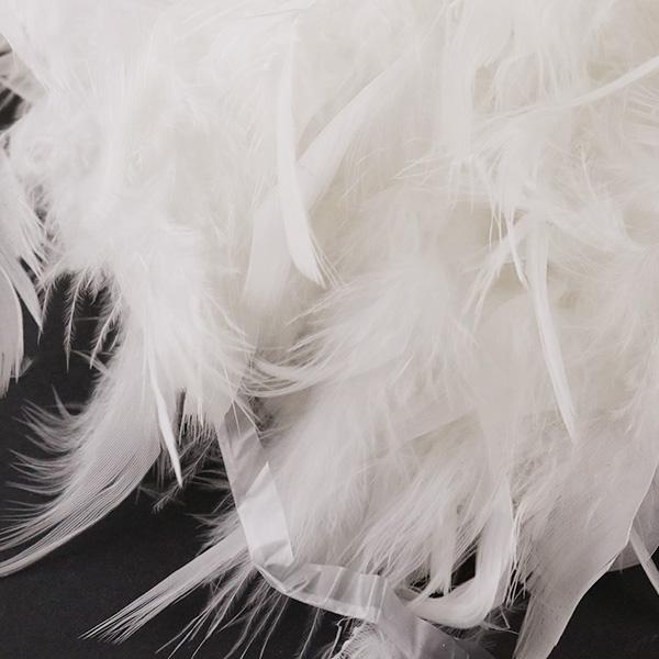 パーティー衣装やコスプレ衣装、装飾アイテムの定番! 羽根装飾 『シャンデリー シロ』