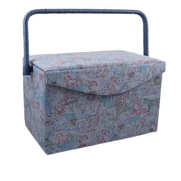 ギフ_包装 リバティの生地を使ったソーイングバスケットです 裁縫箱 信用 LIBERTY リバティプリント ソーイングバスケット SO1-1249207JA ユザワヤ限定商品